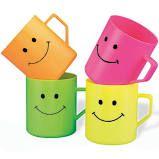 Smile Face Plastic Mugs