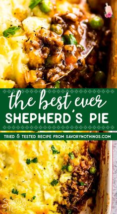 Homemade shepherd's pie is the ultimate comfort food. This simple recipe is made completely from scratch like the traditional, but uses ground beef instead of lamb for a more budget friendly family meal. Filled with healthy vegetables and super comforting Ground Beef Recipes For Dinner, Dinner Recipes, Simple Recipes For Dinner, Ground Lamb Recipes, Turkey Recipes, Beef Dishes, Food Dishes, Healthy Family Meals, Dinner Healthy