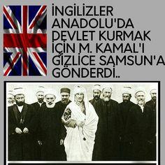 """Instagram'da Kenan Gümüş: """"İNGİLİZLER ANADOLU'DA DEVLET KURMAK İÇİN M. KAMAL'I GİZLİCE SAMSUN'A GÖNDERDİ 🔯🎩İngilizler İstanbulu işgal ettikten sonra hem Yunan…"""""""