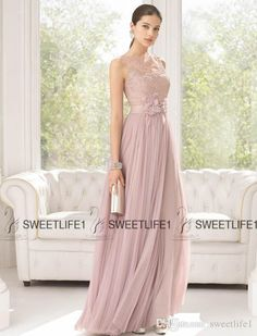 2016 Floor Length Chiffon And Lace Bridesmaid Dresses With High Neck 2016 Spring Summer Long Maid Of Honor Gowns Ruffles Elegant Party Wear Long Dress Bridesmaids Dresses From Sweetlife1, $91.13| Dhgate.Com