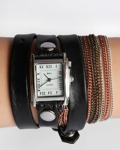 La Mer Goa Multichain Wrap Watch - Black