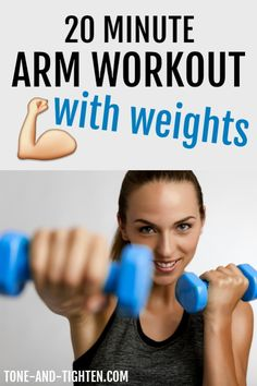 20 Minute Arm Workout with Weights on Tone-and-Tighten.com