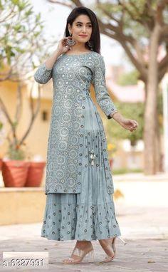 Kurtis & Kurtas Women's Printed Rayon Slub Kurti Fabric: Rayon Slub Sleeve Length: Three-Quarter Sleeves Pattern: Printed Description : Double-Layered Kurtis Multipack: Pack of 1 Sizes: XL (Bust Size: 42 in Length Size: 52 in)  L (Bust Size: 40 in Length Size: 52 in)  XXL (Bust Size: 44 in Length Size: 52 in)  M (Bust Size: 38 in Length Size: 52 in) Country of Origin: India Sizes Available: S, M, L, XL, XXL, XXXL, 4XL, 5XL   Catalog Rating: ★4.3 (32934)  Catalog Name: Attractive Women's Double Layered Kurti CatalogID_1005914 C74-SC1001 Code: 275-6327991-5151