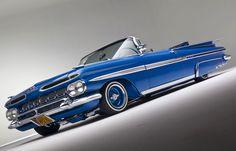 convertabile cadillac baby blue | Blue 1959 Chevy Impala Drop Top Lowrider HD Wallpaper | Lowrider ...