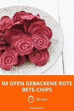 Im Ofen gebackene Rote Bete-Chips - smarter - Zeit: 20 Min. | eatsmarter.de