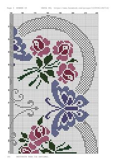 Embroidery patterns butterfly punto croce 27 Ideas for 2019 Butterfly Cross Stitch, Cross Stitch Borders, Cross Stitch Rose, Cross Stitch Flowers, Cross Stitch Designs, Cross Stitch Embroidery, Embroidery Patterns, Cross Stitch Patterns, Broderie Bargello
