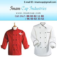 IMAM CAP INDUSTRIES is a Indian leading Manufacturer & Wholesale Suppliers all kinds of  uniforms  Like Hotel uniforms, Hospital uniforms, Doctor Uniforms,  Driver uniforms, School Uniforms, College Uniforms, Industrial  uniforms, Corporate uniforms, Chef Coats, Chef Aprons, Chef Caps, Service aprons,  Shirts, Pants  etc.
