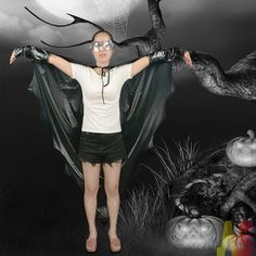 c7bc545179c4 Ladies Black Vampire Bat Wings Halloween Fancy Dress Costume Outfit  Accessory for sale online