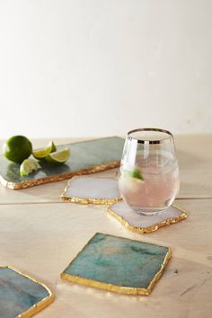 Agate Cheese Board and Coasters - Anthropologie