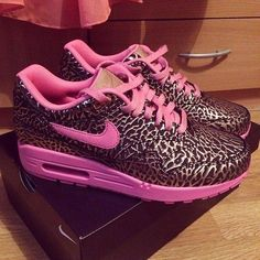Hot Pink Cheetah Sneakers Shoes Pinterest Pink