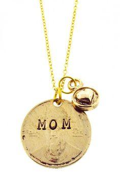 """Mom"" Pendant Necklace"