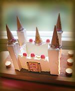 clever and simple ice cream castle