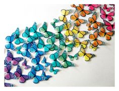 EDIBLE BUTTERFLIES, Edible Butterfly Rainbow Cake, Wedding Cake Topper, Decorations, Edible Cake Topper op Etsy, 32,26 €