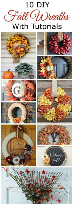Celebrate autumn with one of these 10 DIY fall wreaths for your front door. Including tutorials and lots of great fall inspiration!