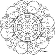 Dont Eat the Paste: Gear and cogs mandala