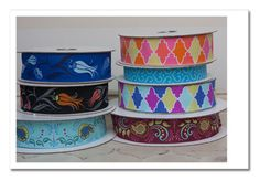 jacquard ribbons, webbing and hardware...  We're selling ribbons by the yard again, including these gorgeous Grand Bazaar ribbons from Patty Young!  Ribbon, Interfacing, Glue/Adhesives, Zippers, You Cover Buttons, Belt Hardware, Hardware,   Headbands/ Hair Access, Webbing  www.jcarolinecrea...