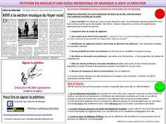 Petition JLM Musique  Pétition en faveur d'une école municipale de musique à Jouy le Moutier (95)