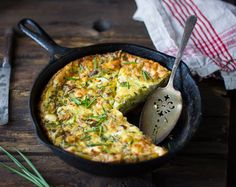 Potato and Green Garlic Crustless Quiche with Goat Cheese, Gruyère, and Chives {Gluten-Free} – The Bojon Gourmet