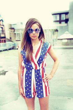 American Flag Romper