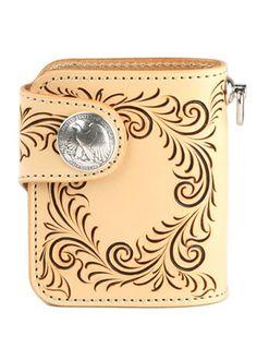 財布 メンズ 二つ折り 革 レザー 送料無料 KC,s ケイシイズ : ビルフォールド ラレド フリーカット【タン】