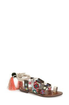 Sam Edelman 'Gretchen' Embellished Lace-Up Sandal (Women) available at #Nordstrom