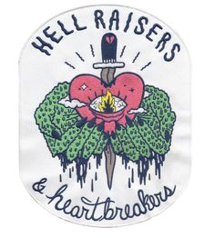 "Sick Girls Official ""Hell Raisers & Heartbreakers"" Back Patch #SickGirlsOfficial #Patch #BackPatch"