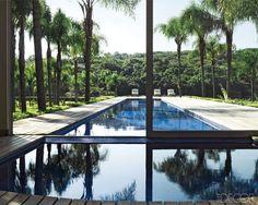 Half Indoor Half Outdoor Pool / Carlos Miele