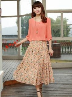 New Summer Natural Waist Mock Two-piece Large Size Maxi Dress