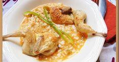 Paso a paso para preparar un arroz caldoso con codornices muy fácil.