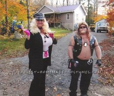 Dog the Bounty Hunter and Beth Couple Halloween Costume... This website is the Pinterest of costumes