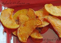 Salted Paleo: Crunchy Butternut Squash Chips Check out the website to see Primal Recipes, Low Carb Recipes, Whole Food Recipes, Healthy Recipes, Diet Recipes, Recipies, Vegetable Recipes, Cooking Recipes, Butternut Squash Chips
