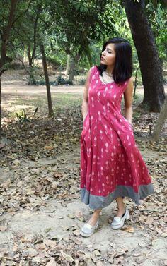 Fashion vintage summer simple for 2019 Kalamkari Dresses, Ikkat Dresses, Simple Dresses, Casual Dresses, Fashion Dresses, Kurta Patterns, Dress Patterns, Kurta Designs, Blouse Designs