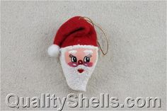 Santa seashell ornament...I have some but want more <3