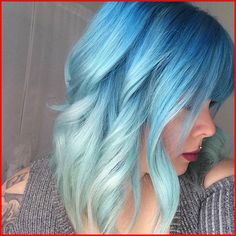 Turquoise Blue Ombre Hair Color, Blue ombre hair looks especially stunning and ensures that you become the center of attention in every room you walk into. And with the sudden advent . Brown Ombre Hair, Teal Hair, Pastel Hair, Turquoise Hair, Pastel Blue, Bold Hair Color, Ombre Hair Color, Purple Ombre, Balayage Hair Blonde