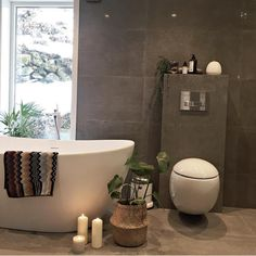 Spa feeling Credit: by Spa, Hanging Canvas, Shower Remodel, Modern Kitchen Design, Beautiful Bathrooms, Clawfoot Bathtub, Wall Colors, Interior Inspiration, New Homes