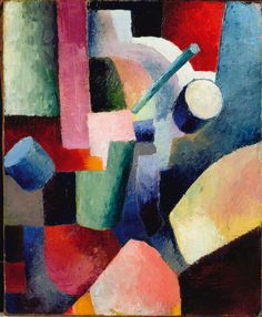 """August Macke """"Colored Composition Of Forms"""", 1914"""