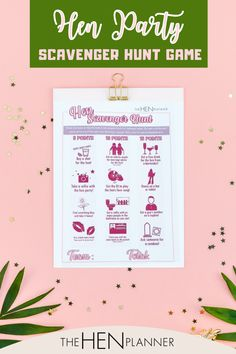Hen Party! People always want to do and playing games something hilarious, Naughty, and Funny activities. This scavenger hunt is bound to get any hen party going. Simply buy, download the file, print, and get ready to play! #printablegame #henpartygame #hendo
