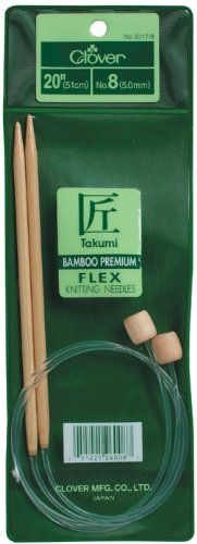 Clover Takumi Bamboo Flex 20Inch Knitting Needles Size 15 * You can find out more details at the link of the image.Note:It is affiliate link to Amazon.
