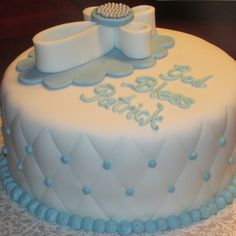 Baptism Cake Boy~Nancycakes on FB