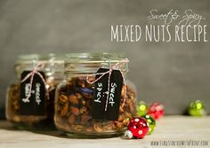 Mixed Nuts in Mason Jars