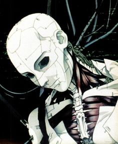 """This is an image from a 1995 Japanese anime film Ghost in the Shell. The film deals with the subject of trans humanism, persona, a human when the only part of them that is human is a human brain a""""ghost"""" in a robot body """"shell"""". I chose it because it gets you thinking about what it means to be human in the information age."""