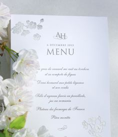 Menu Collection Printemps Argent / Blanc www.dancourt.net