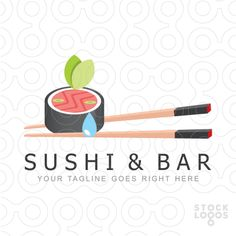 Exclusive Customizable Logo For Sale: Sushi & Bar by Serdal Sert | StockLogos.com
