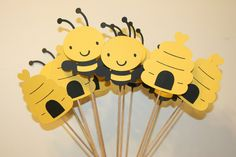 Set of 12 Bumble Bee Table Decorations by AngiesDesignz on Etsy, $20.00