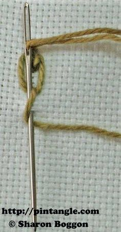 how to stitch knotted cable chain step 5