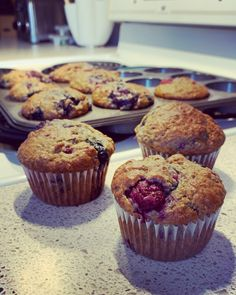 Muffin Fruits Rouges, Muffin Recipes, Breakfast Recipes, Dessert Aux Fruits, Homemade Muesli, Good Foods For Diabetics, Fiber Foods, Diabetic Recipes, Tray Bakes