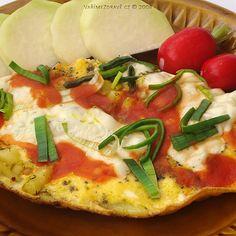 bramborova-omeleta-s-paserakem Vegetable Pizza, Vegetables, Food, Diet, Essen, Vegetable Recipes, Meals, Yemek, Veggies