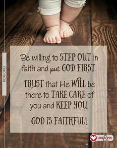 Step out in faith and put God first!