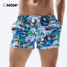 Leisue Colored Splash Dot Quick Dry Elastic Lace Boardshorts Beach Shorts Pants Swim Trunks Mens Swimsuit with Pockets