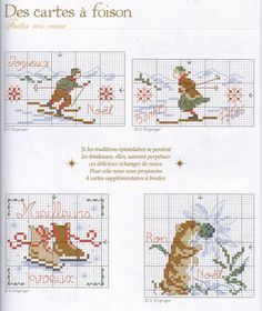there are lots of 'old-fashioned' patterns here - really nice! Xmas Cross Stitch, Just Cross Stitch, Cross Stitch Cards, Cross Stitch Samplers, Counted Cross Stitch Patterns, Cross Stitch Designs, Cross Stitching, Cross Stitch Embroidery, Hand Work Embroidery